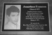 Jonathan Franzen, author, Wall of Fame plaque