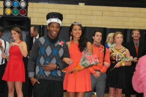 Seniors DJ Johnson and Lonita Benson are named Friendship King and Queen at the Friendship Dance on Nov. 2, at WGHS. (Photo by Bret Waelterman)
