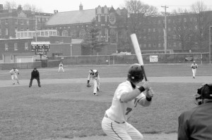 Will Berkowitz, senior, goes up to bat. Webster played the Sullivan Eagles on March 24, and lost 11-3. (Photo by Jack Killeen)