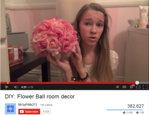 "Sophomore Abby Wilson explains how to make a flower ball from scratch in her most popular ""Do it yourself"" video on YouTube."
