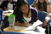 Senior Lauren Newsome reads in her English class. (Photo by Brittany Patton)