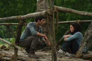 """Dylan O'Brien and Kaya Scodelario star as Thomas and Teresa in """"The Maze Runner."""" (c) 2014, 20th Century Fox. Distrubuted by McClatchy/Tribune Information Services (Photo Credit: 20th Century Fox/MCT)"""