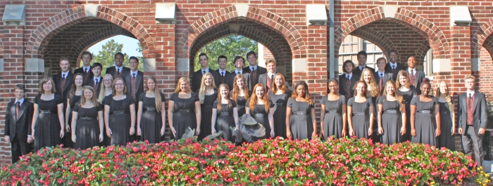 Chamber Choir will perform at this year's MMEA Conference which goes from Jan. 28-31,  this school year. The chamber choir consists of both men and women from every level of high school and the choir is made up of 39 students. (Two were absent from the photo). (Photo by Scott Kinworthy)