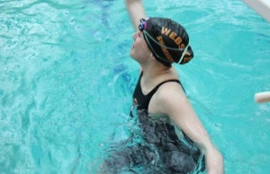 Junior Mikayla Kempf, swimming as a sophomore last season (photo by Allie Clear)
