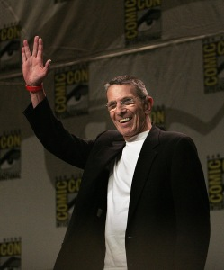 """Leonard Nimoy arrives onstage during the Paramount Pictures panel on the new """"Star Trek"""" film at Comic-Con on July 26, 2007 in San Diego, Calif. Nimoy died Friday, Feb. 27, 2015 at his home in Bel-Air. He was 83. (c) 2007, Los Angeles Times. Distributed by McClatchy/Tribune Information Services. (Photo Credit: Spencer Weiner/Los Angeles Times/TNS/MCT)"""