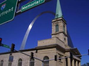 One summer attraction is the St. Louis Arch downtown.