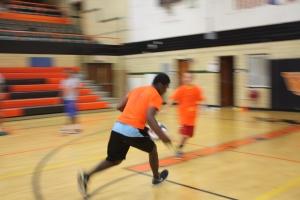 Alumni De'Andre Scott steal the ball-Selective Focus