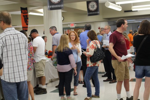 WGHS Open House was Thursday, Sept. 3. Between 5:30-6:30 p.m. parents could go to the cafeteria for things like picking up their child's schedule, buying WG merchandise and buying Brian Selznick tickets. Photo by Kadifa Tabakovic.