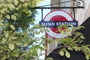 Sushi Station brings in the east with authentic Japanese and Thai cuisine. Its logo represents the colors of the Japanese flag. Photo by Greg Frazier