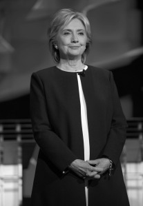 Hillary Clinton waits to speak at the CNN Democratic Debate Debate on Tuesday, Oct. 13, 2015, in Las Vegas. (c) 2015. Brian Cahn. Distributed by McClatchy/Tribune Information Services. Photo Credit: Brian Cahn/MCT
