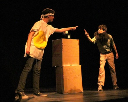 """Miles Umbaugh and Elliot Williams have a strange standoff in """"Egg Head."""""""