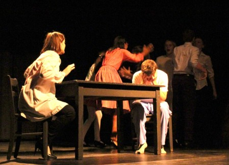 """Performers struggle with inner conflict in """"Inside"""" by Tea Gardner."""