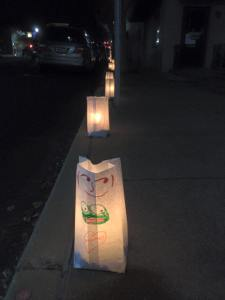 Luminarias lined Lockwood Avenue Dec. 18, from 5 p.m. to 10 p.m. as part of the American Cancer Society's Lights for Life event. The candles were lit on Friday, Dec. 18, 5 to 10 p.m. The purpose of the event was to raise funds for and awareness of cancer research.