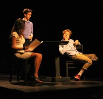 """Robbie Morefield, Emma Dowling and Zach Comegys deal with a first date in """"A Bit Too Much"""" by Aidan Kurtz."""