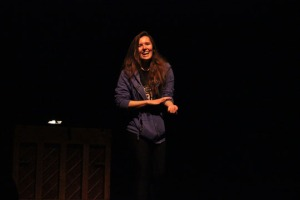 Senior Kate Arendes introduces the play that she wrote for the 2014 Spring One Acts.
