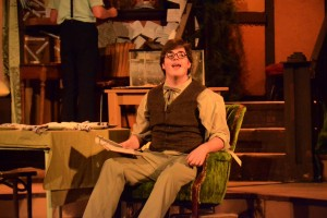 """Senior Travis Williams stars in play """"You Can't Take It With You,"""" March 31 to April 2. Photo by Jake Collins"""