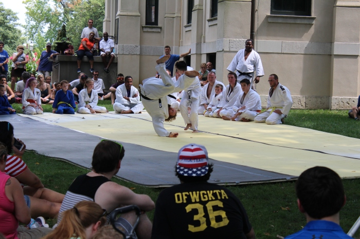 Martial artists demonstrate their techniques at the Japanese Festival at Missouri Botanical Garden over Labor Day Weekend. This festival has existed since 1977. Photo by Ashli Wagner