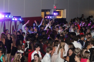 Kirkwood and Webster students gather for the 2014 Friendship Dance. Photo by Bret Waelterman