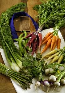 A vegan diet is more interesting when your plate is full of color. (c) 2005. Photo by Mel Melcon/Los Angeles Times/TNS