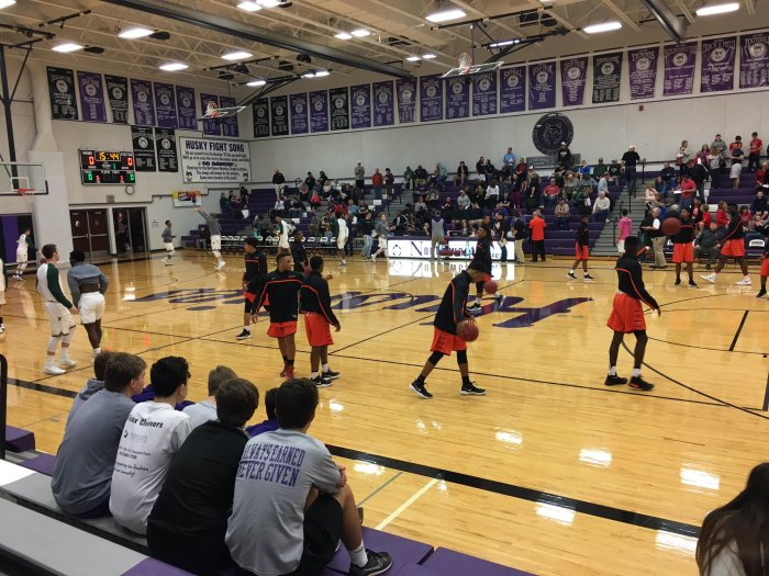 Statesmen prepares to clash with Iowa City West in Midwest Showcase clash from Kansas City Feb. 11. Webster won the game 76-68. Photo by Bennett Durando
