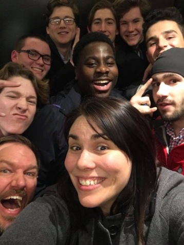 "Nine students and two teachers get stuck in an elevator for over an hour. ""It go super hot and nobody has cell service,"" senior Will Tegenkamp said. Photo by Kara Siebe"