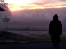 Senior Rosie Ryan watches the sunrise. Photo from Julie Burchett.