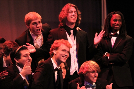 Contestants compete in the Mr. Webster Pageant on Nov. 13 in Knight Auditorium. Photo by Jaden Fields